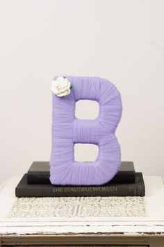 Tulle wrapped letter B wedding decoration by DuryeaPlaceDesigns Letter B, Letter Wall, Little Girl Rooms, Letters And Numbers, Wedding Decorations, Wedding Ideas, Diy Crafts, Tulle Crafts, Photography Props