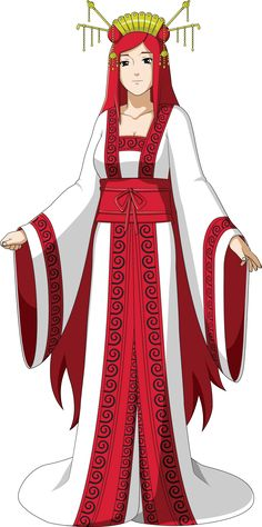 Moto Uzumaki (Mito Uzumaki's Daughter) in my Naruto Uzumaki: The Rogue Rinnegan fanfic. Designed by Rarity-Princess