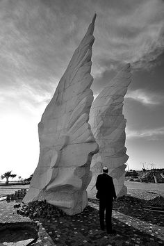 Wings of Peace.    A Monument of Victory commemorating the triumph of the Red Army over Nazi Germany in World War II  Netanya, Israel