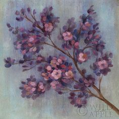 Twilight Cherry Blossoms II - 18x18 - 18x18 by