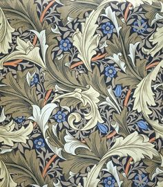 William Morris Wallpaper. Reuben Golding's house. Nideck House. The Wolf Gift.