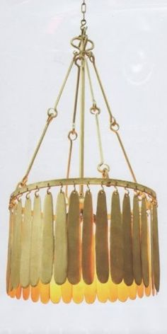 The Ironware International Collection Gold Chandelier