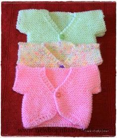 Baby Knitting Patterns Sweet Little Baby Tops - Free Knitting Pattern:...
