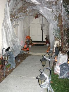 Halloween Decorations  Tubing, Gazebo, netting, spooky entrance or under cover area