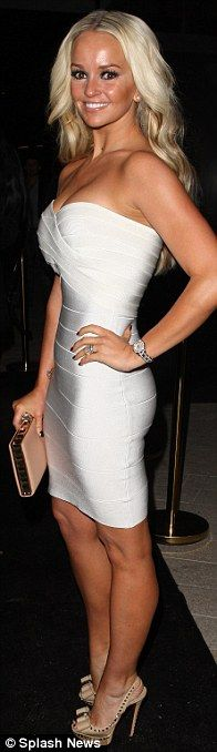 de85ed0bd78f All white now! Jennifer s stunning white bandage dress displayed her  amazing new figure for the