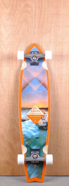 "Arbor 37"" Mission Walnut Longboard"