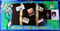 Travel Themed Bar Mitzvah Cake with Fondant Decor