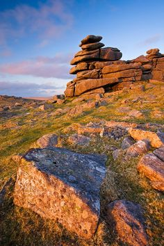 Great Staple Tor in Dartmoor National Park - Devon, England