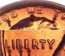 1972 Lincoln Memorial Penny Doubled Die Obverse Variety - Image Courtesy of: Heritage Auction Galleries, Ha.com