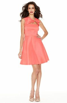 tangerine colored; Suzi Chin for Maggy Boutique Front Cutout Fit & Flare Dress available at #Nordstrom