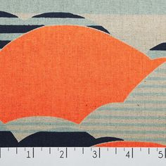 Neon Clouds Orange & Blue | Fancy Tiger Crafts.  Seven Islands Fabric