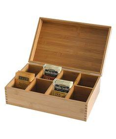 New Lipper International Bamboo Wood Tea Bag Storage Box Chest Organizer Kitchen Tea Bag Storage, Storage Bins, Storage Organization, Kitchen Organization, Storage Ideas, Food Storage, Storage Solutions, Organizing Tips, Storage Containers