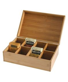 Oh I love tea Compartment Tea Boxes  #zulily today!