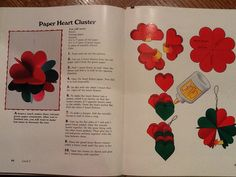 Paper heart cluster craft