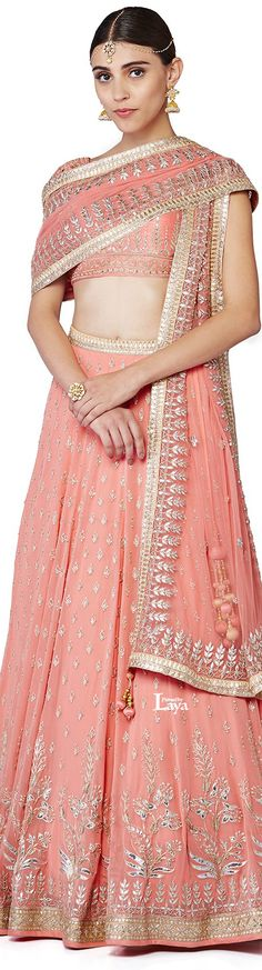 Anita Dongre 2016 collection | Beautiful peach shade ensemble for your wedding…
