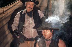 Slim Pickens and Alex Karras in Blazing Saddles (1974)