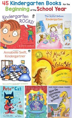 Kindergarten Books / Read Alouds for the Beginning of the School Year Building a love of learning one creative & fun lesson at a time.Kindergarten Books / Read Alouds for the Beginning of the School YearOne of Kindergarten First Week, Kindergarten Lesson Plans, Kindergarten Literacy, Kindergarten Graduation, Preschool Books, Starting Kindergarten, Kindergarten Procedures, Kindergarten Library Lessons, Best Books For Kindergarteners
