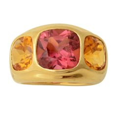 SEAMAN SCHEPPS Gypsy Ring with Tourmaline and Citrine thumbnail 1
