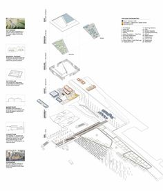 Emerging New York Architects Competition Proposal: 'The Hudson Exchange' / SWARM,exploded diagram