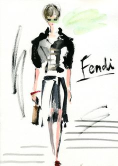 """Fendi: Spring 2012 RTW"" Rita Levi-Montalcini is the fashion inspiration of Spring 2012.She is a 102-year-old Italian neurologist who won the Nobel Prize for Medicine in 1986. Silvia Venturini Fendi felt she was the perfect embodiment of the very particular type of Milanese woman she wanted to celebrate with the new Fendi collection: serious, practical, possibly academic.  Fendi Spring 2012 RTW リータ・レーヴィ=モンタルチーニがこのコレクションのファッション・インスピレーションです。彼女は1986年にノーベル生理学・医学賞を受賞した"