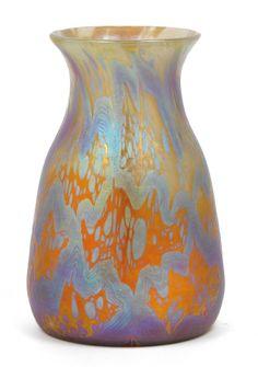 "** Johann Loetz Witwe, Klostermühle, c. 1900, Iridescent Glass Vase. Decor: ""Phänomen Gre"""