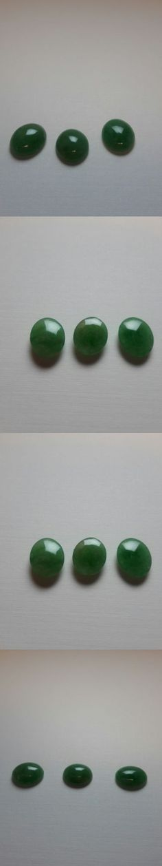 Other Jade 10231: Green Jade Ovals ~ 11 Mm X 9 Mm ~ Lot Of 3 -> BUY IT NOW ONLY: $75 on eBay!