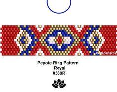 peyote ring pattern,PDF-Download, #380R, beading pattern, beading tutorials, ring pattern,pdf design,pattern design,patterns,bellepatterns