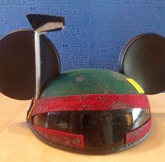 boba fett mickey hat.. . #starwars
