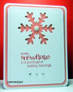 Single Flake jhg 10_08 by jojot - Cards and Paper Crafts at Splitcoaststampers