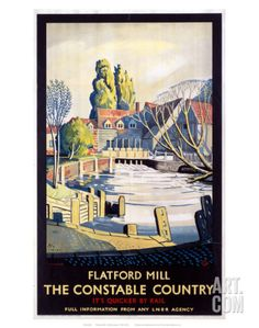 Vintage LNER Flatford Mill Suffolk Railway Poster A3//A2//A1 Print