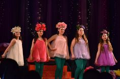 McGee Middle School production of Alice in Wonderland Jr: Girls of the Golden Afternoon costumes - flower costumes