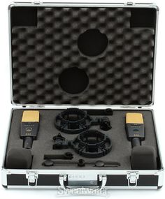 """Large Diaphragm Condenser: AKG C414 XLII Matched Pair, 1"""" diaphragm, 20-20kHz, Low Cut Filter: 40Hz and 80Hz, -12dB/octave; 160Hz, -6dB/octave, Pads: -6dB, -12dB, & -18dB (includes shockmounts, windscreens, stereo bar and hard carrying case) $2299 Akg, Filter, Pairs, Studio, Study"""