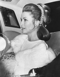 """thestandrewknot: """" Princess Grace of Monaco arrives at the Royal Festival Hall in London for a concert in aid of united world colleges, 1970. """""""