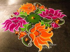 Superfoods, nuts and berries strike a healthy Diwali note on Snapdeal Easy Rangoli Designs Diwali, Rangoli Designs Latest, Simple Rangoli Designs Images, Rangoli Designs Flower, Free Hand Rangoli Design, Rangoli Patterns, Small Rangoli Design, Rangoli Ideas, Colorful Rangoli Designs