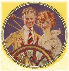 J.C. Leyendecker illustration for Arrow Collars.