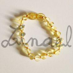 Bracelet d'ambre bébé CITRINE