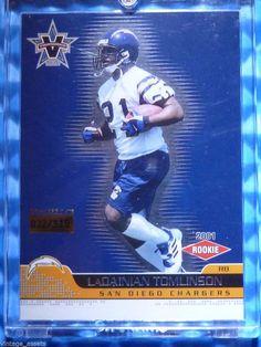 2001 Vanguard LADAINIAN TOMLINSON Rookie Card RC #141 #32/115 Chargers TCU #SanDiegoChargers
