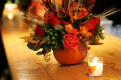 October Wedding centerpiece