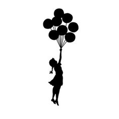 Banksy Balloon Float Sticker