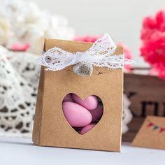 Gastgeschenk Geschenktüte Vintage mit Herz