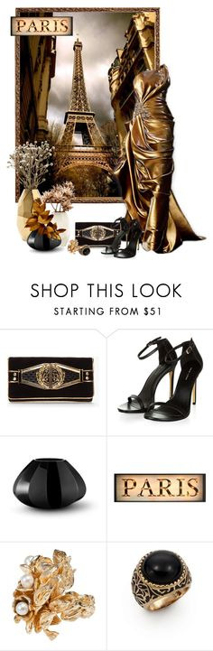 """Paris In Gold"" by sagramora ❤ liked on Polyvore featuring Veja, Balmain, Nate Berkus, Georg Jensen and L.A.M.B."