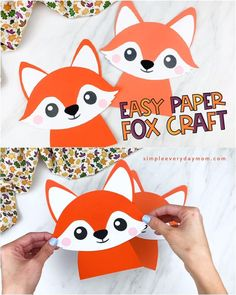 This cute and easy fox craft is a fun project to make with the kids! Make your own at home or at school. It comes with a free printable template too. Download and make during fall or when doing a woodland or forest animal unit. Woodland animal crafts for kids  #simpleeverydaymom Fox Crafts, Paper Animal Crafts, Animal Crafts For Kids, Paper Crafts Origami, Summer Crafts For Kids, Crafts To Do, Diy Crafts For Kids, Easy Toddler Crafts, Animal Projects