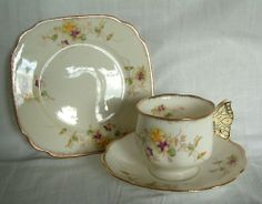 Royal Albert Cup Saucer Plate with Butterfly Handle   eBay
