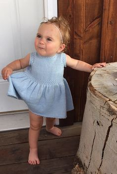Free knitting pattern for Swan Valley Toddler Dress pattern by Selena Miskin and more children& dress knitting patterns Baby Knitting Patterns, Toddler Dress Patterns, Knitting For Kids, Baby Patterns, Free Knitting, Knit Baby Dress, Knitted Baby Clothes, Baby Pullover, Quick Knits
