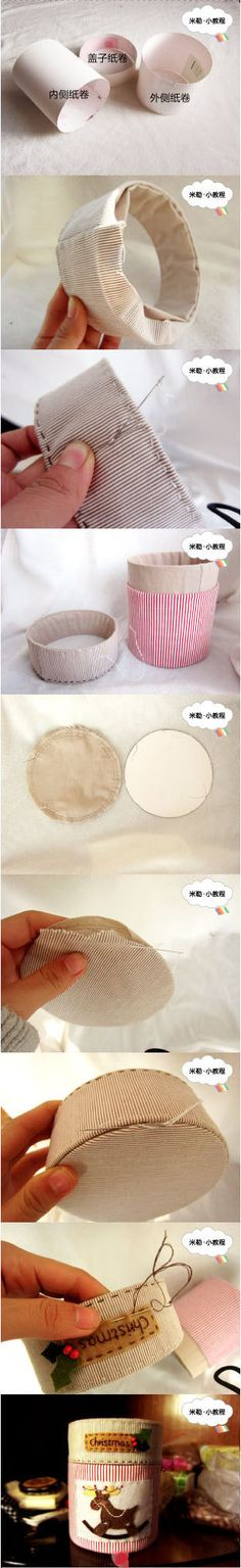 round fabric containers diy