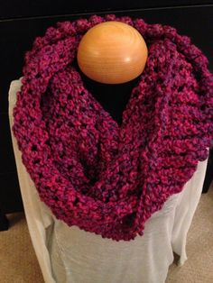 Handmade knit infinity winter scarf - Ambrosia.  By: Scarves by Chelsey  #knit #infinity #scarf #handmade #scarves #winter #warm #fashion  www.facebook.com/scarvesbychelsey Check us out on Etsy!