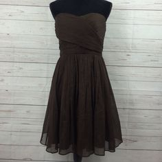"J Crew delicate strapless dress J Crew delicate strapless dress Sz 8 100% silk long from waist 22"" J. Crew Dresses Strapless"