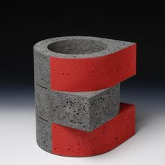 Take the history of Dutch abstract art: the paintings of Piet Mondrian, the design of Gerrit Rietveld and the ar. Mix Concrete, Concrete Design, Contemporary Ceramics, Contemporary Art, Cement Art, Tree Shapes, Wood Resin, My Cup Of Tea, Bottles And Jars