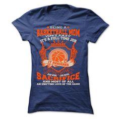 basketball mom T Shirts, Hoodies, Sweatshirts. GET ONE ==> https://www.sunfrog.com/No-Category/basketball-mom-34922854-Ladies.html?41382
