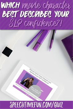 Free quiz for speech-language pathologists. Find out which movie character best represents your SLP confidence?! Get freebies and free tips and tricks too!